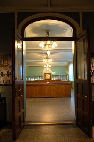 The Coin Cabinet is an exceptional example of Norwegian Jugendstil.