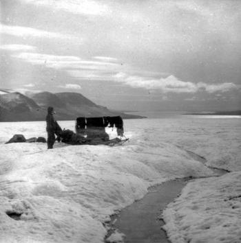 At their final destination: the Zivolka Fjord on the east coast of the island. They tasted the water to make sure that they had actually reached saltwater.