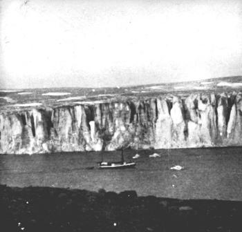 "While Holtedahl was away, the other members of the expedition had been working in the Mashigin Bay and had named the glacier next to the bay after Holtedahl. The ""Blaafjell"" in front of the Holtedahl Glacier."