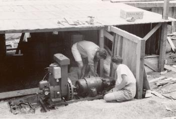 The dentist had brought almost two tonnes of equipment with him, and the X-ray machine required its own small petrol-powered electricity generator. It was a stroke of good luck that the expedition's handyman, Skjelten, had been in charge of the local power station back home in Norway.